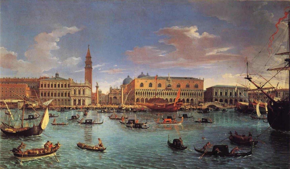 La relación de la palabra cuarentena con Venecia, Italia