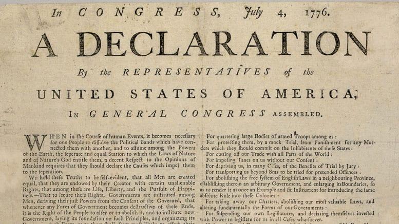 Lee la Declaración de Independencia de los Estados Unidos en español