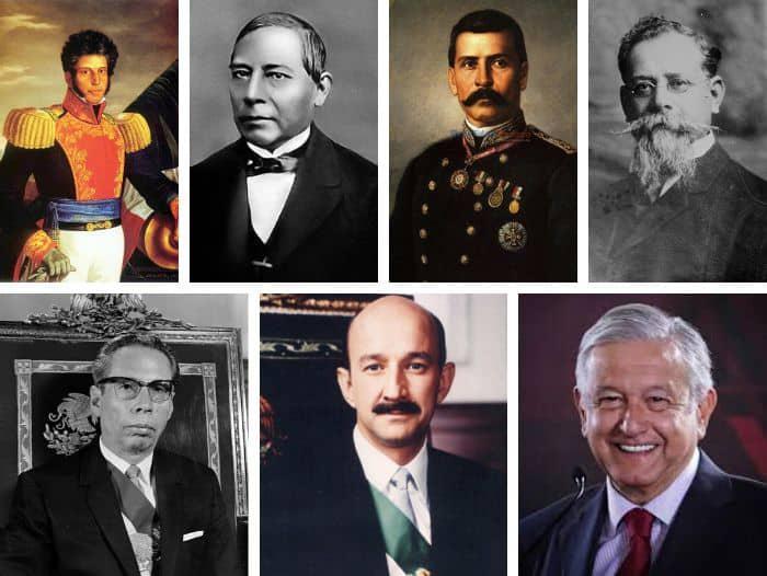 Presidentes de México, fotos, lista cronológica y descripciones de sus gobiernos